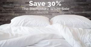 The BioPosture White Sale