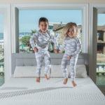 kids jumping on bioposture mattress